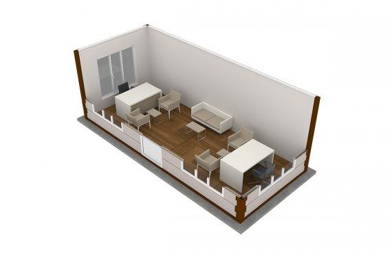 Блок-контейнер под офис | модульные офисы продаж