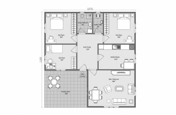 123 м2 Модульные летние дома