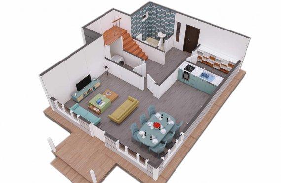 126 м2 Аккуратные дуплексные готовые дом