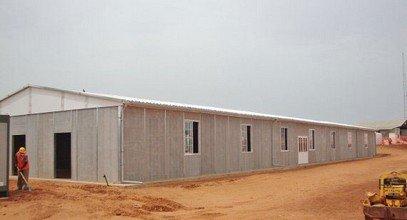Быстровозводимое сборно-разборное здание в Сенегале на основе каркасно-панельных конструкций