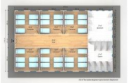 Планировки быстровозводимых общежитий
